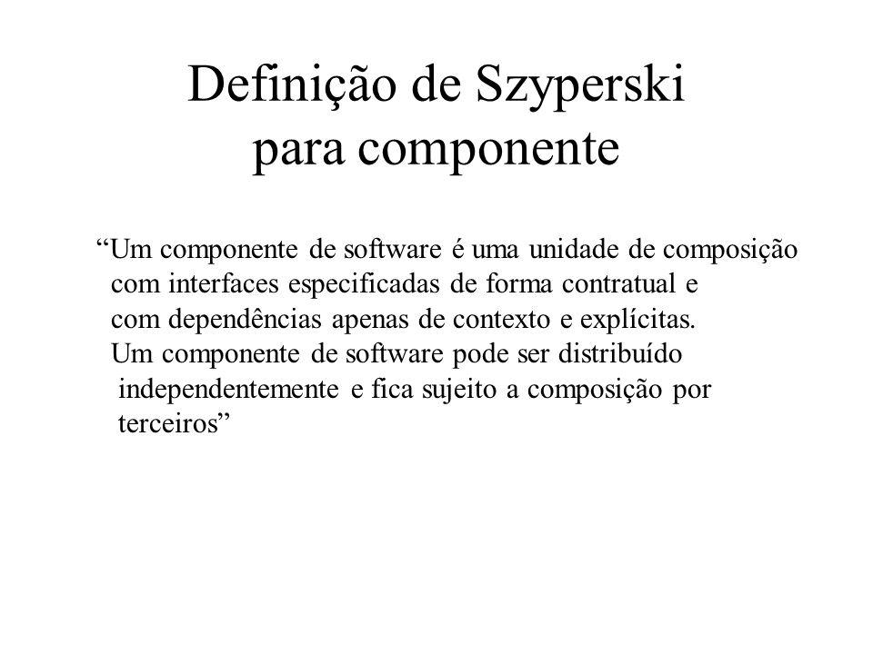 Definição de Szyperski para componente