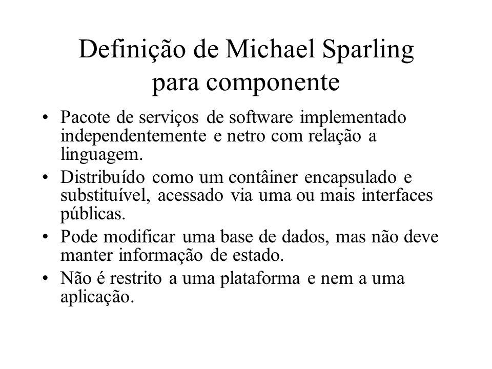 Definição de Michael Sparling para componente