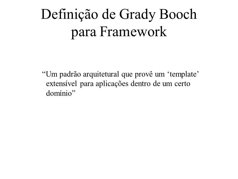 Definição de Grady Booch para Framework
