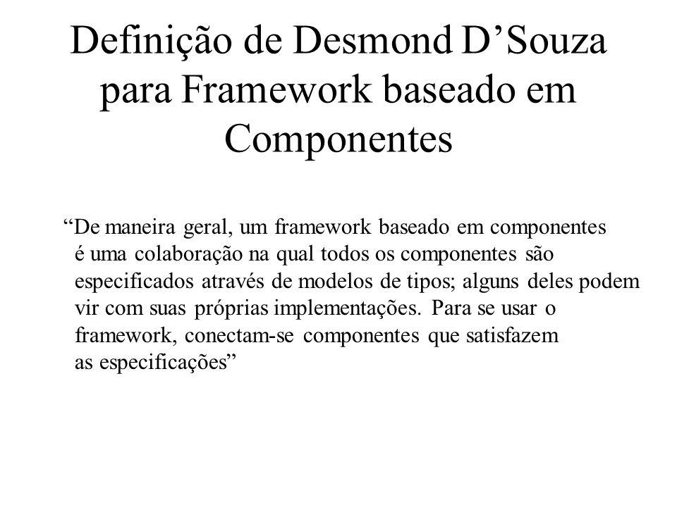 Definição de Desmond D'Souza para Framework baseado em Componentes