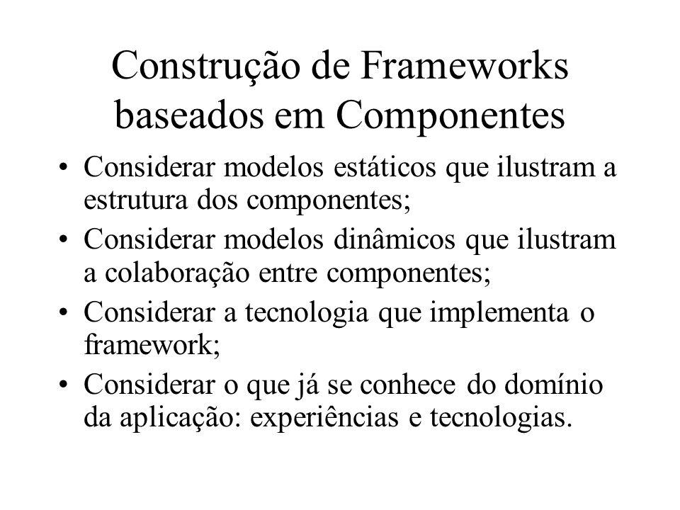 Construção de Frameworks baseados em Componentes