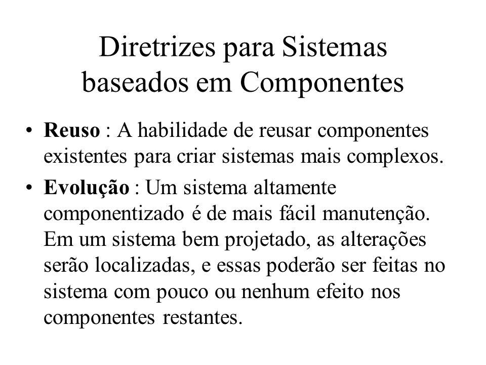 Diretrizes para Sistemas baseados em Componentes