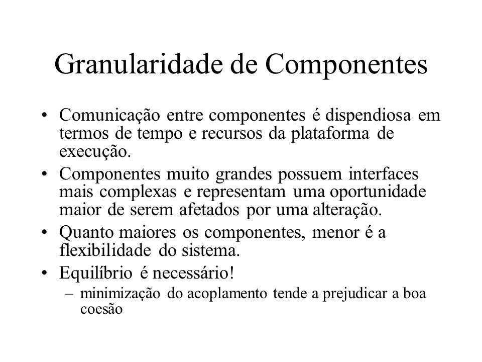 Granularidade de Componentes
