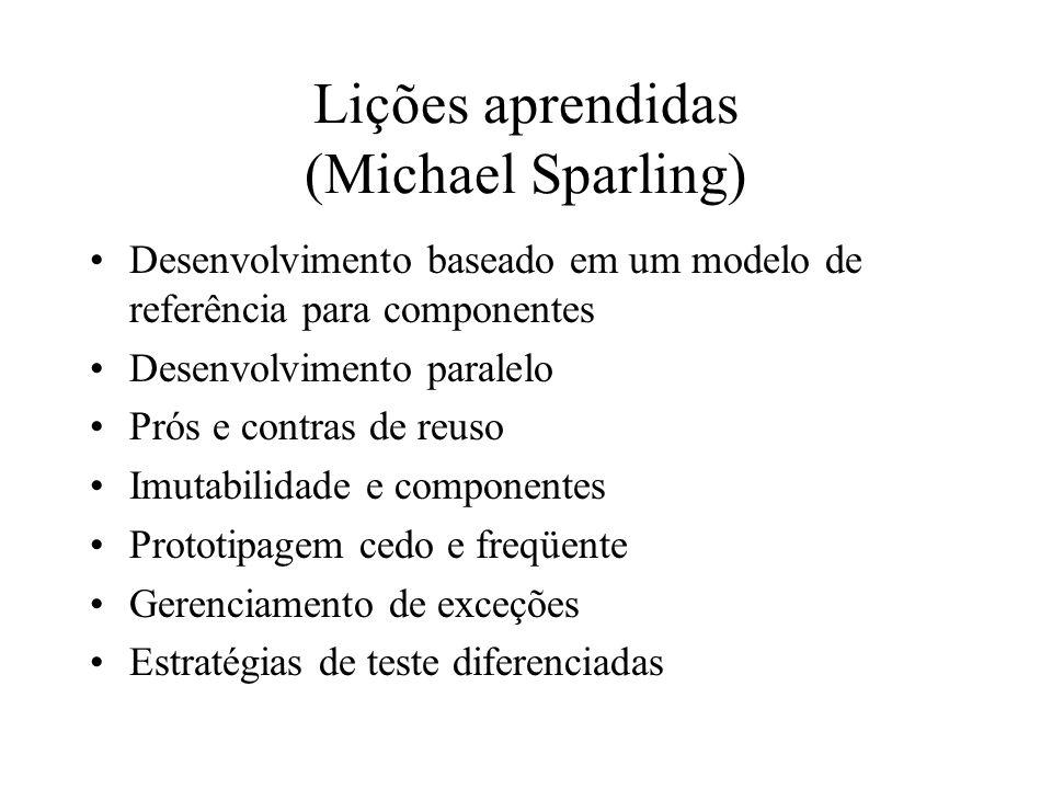 Lições aprendidas (Michael Sparling)