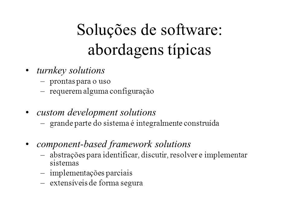 Soluções de software: abordagens típicas