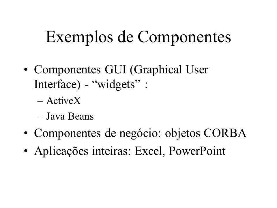 Exemplos de Componentes