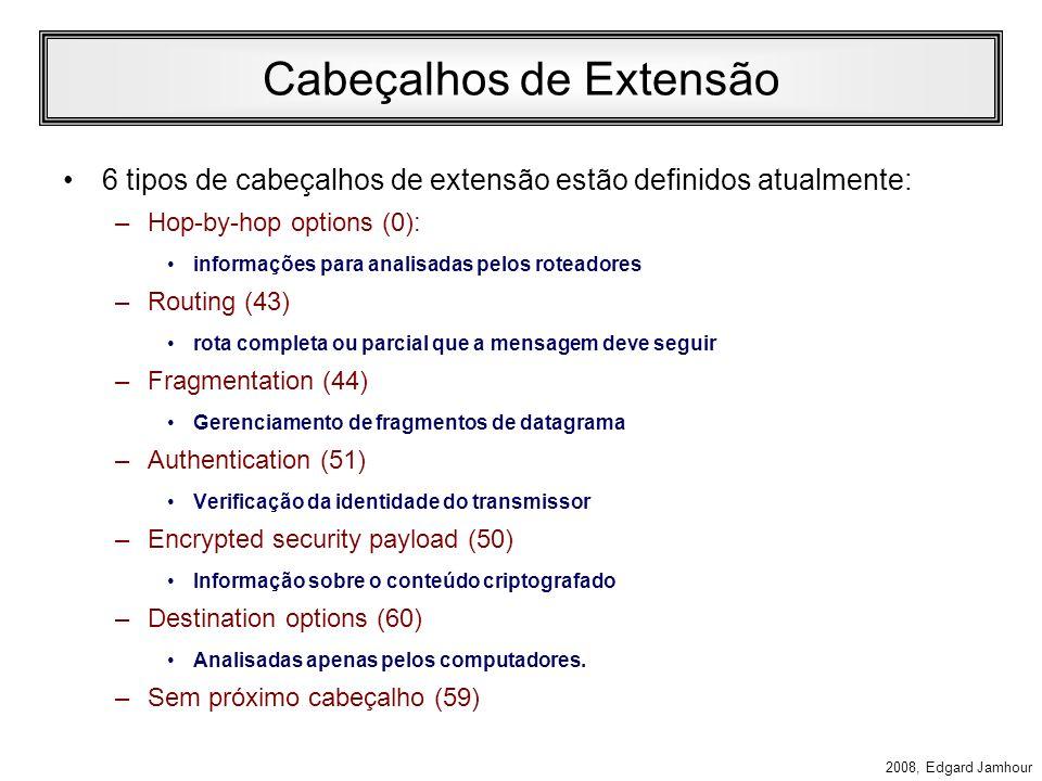 Cabeçalhos de Extensão