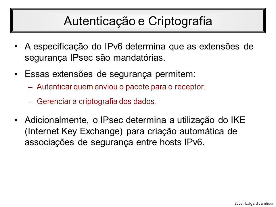 Autenticação e Criptografia