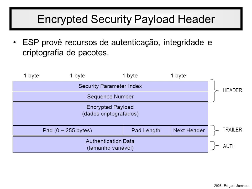 Encrypted Security Payload Header