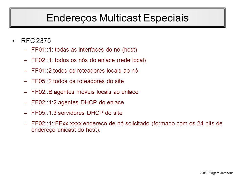Endereços Multicast Especiais