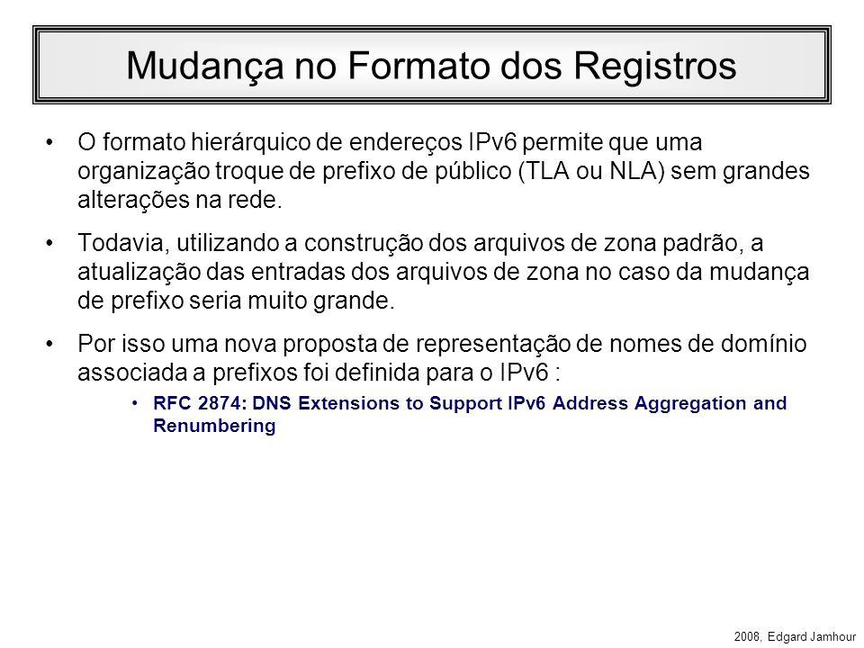 Mudança no Formato dos Registros