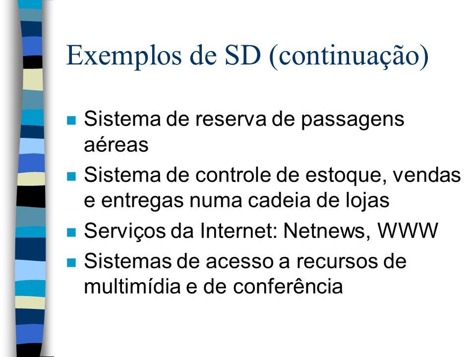Exemplos de SD (continuação)