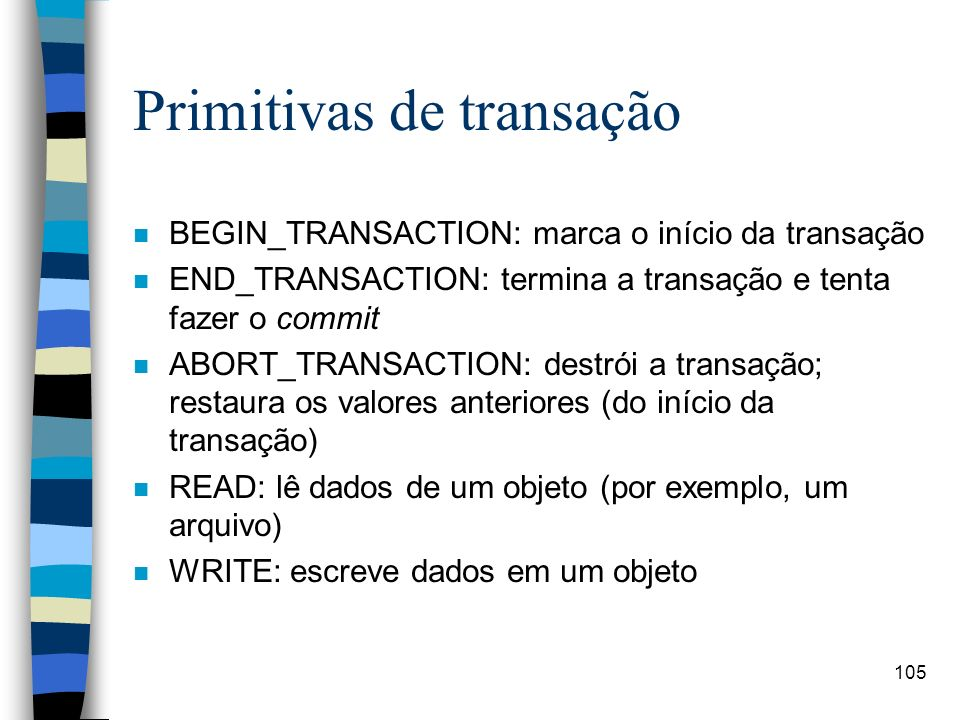Primitivas de transação