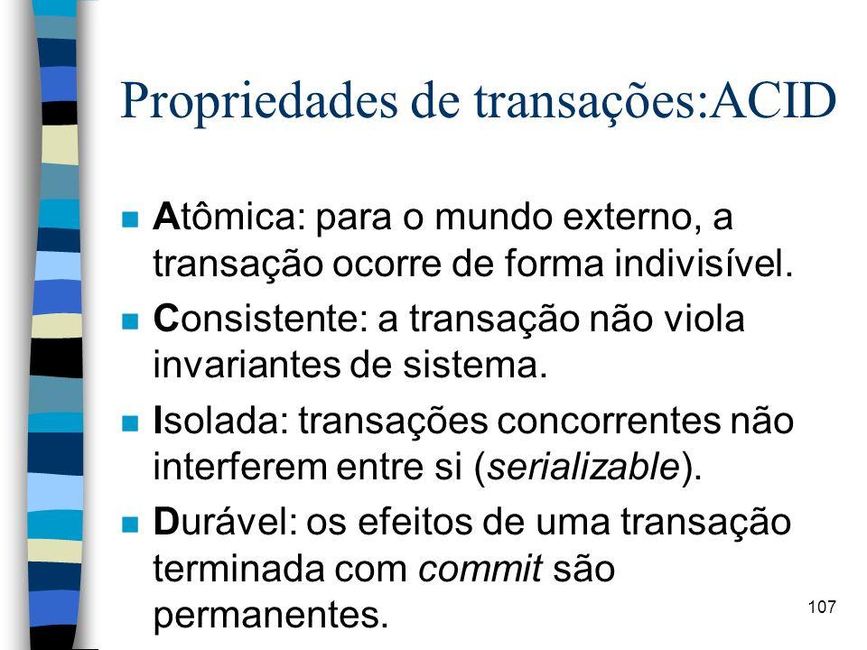 Propriedades de transações:ACID