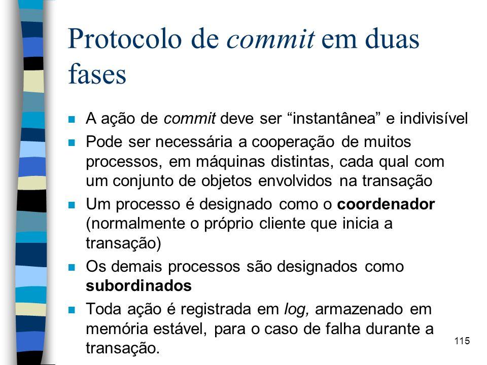 Protocolo de commit em duas fases