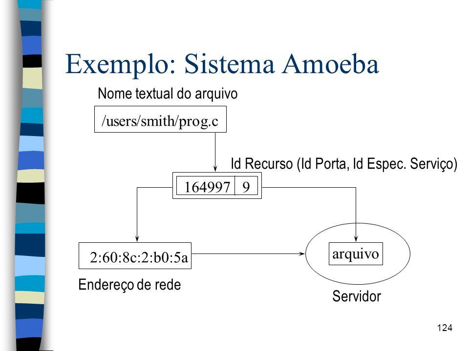 Exemplo: Sistema Amoeba