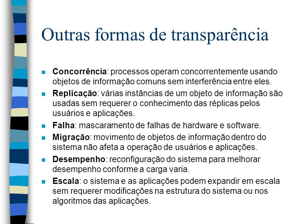 Outras formas de transparência