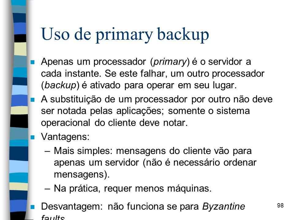 Uso de primary backup