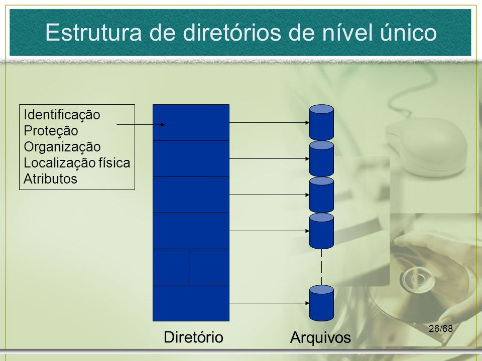 Estrutura de diretórios de nível único