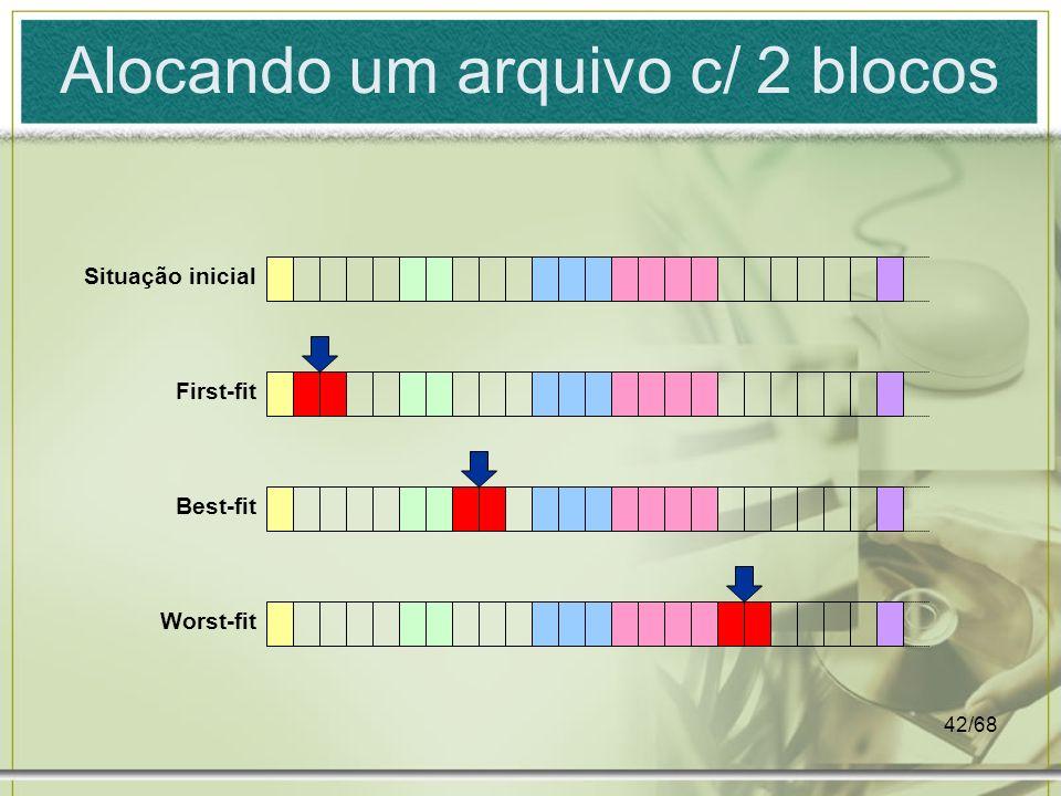 Alocando um arquivo c/ 2 blocos