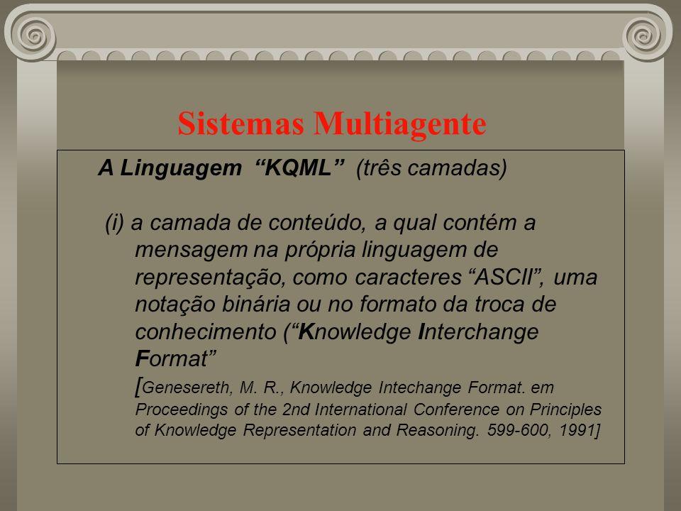 Sistemas Multiagente A Linguagem KQML (três camadas)