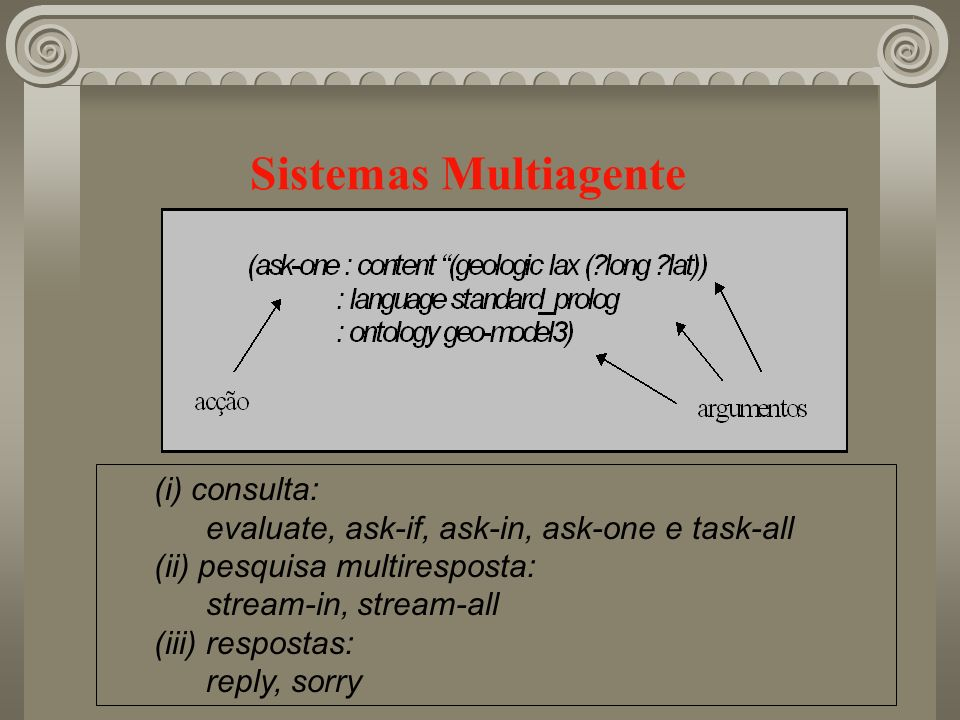 Sistemas Multiagente (i) consulta: