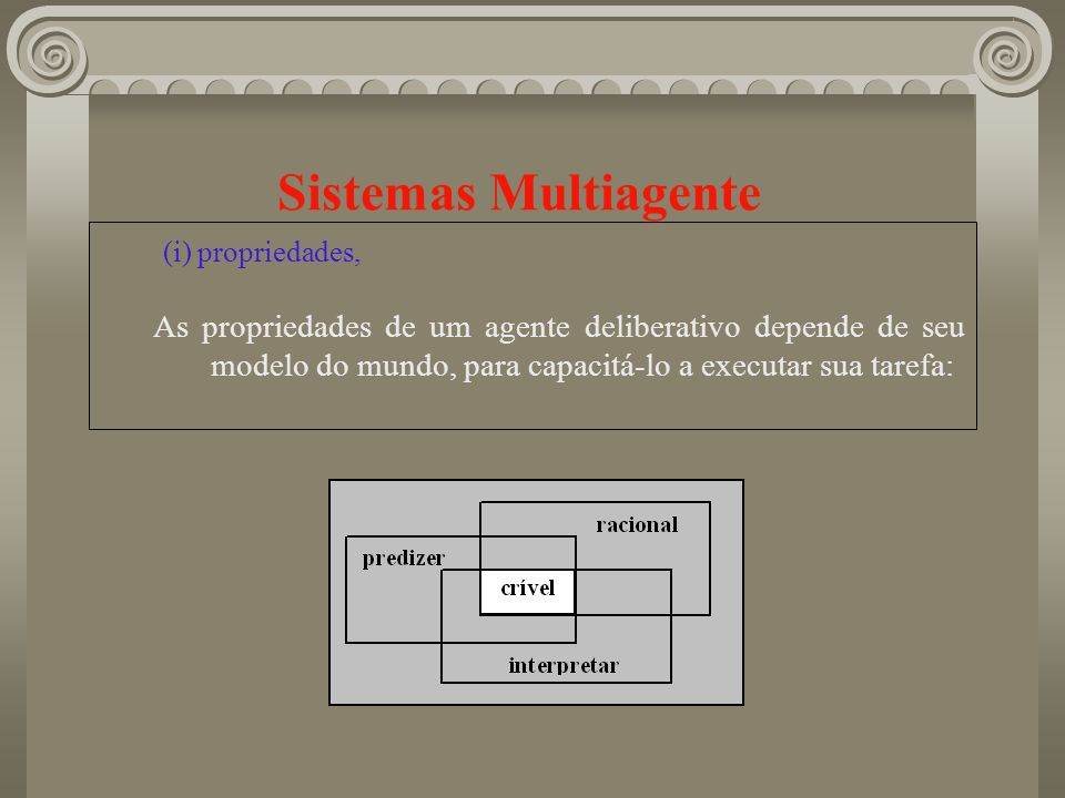 Sistemas Multiagente (i) propriedades,