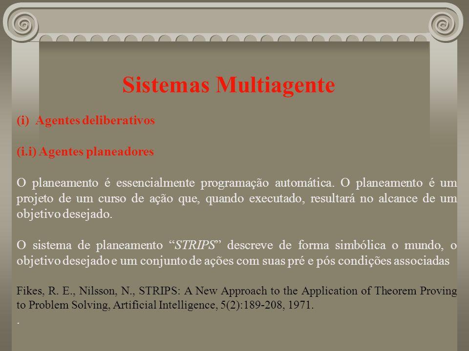 Sistemas Multiagente (i) Agentes deliberativos