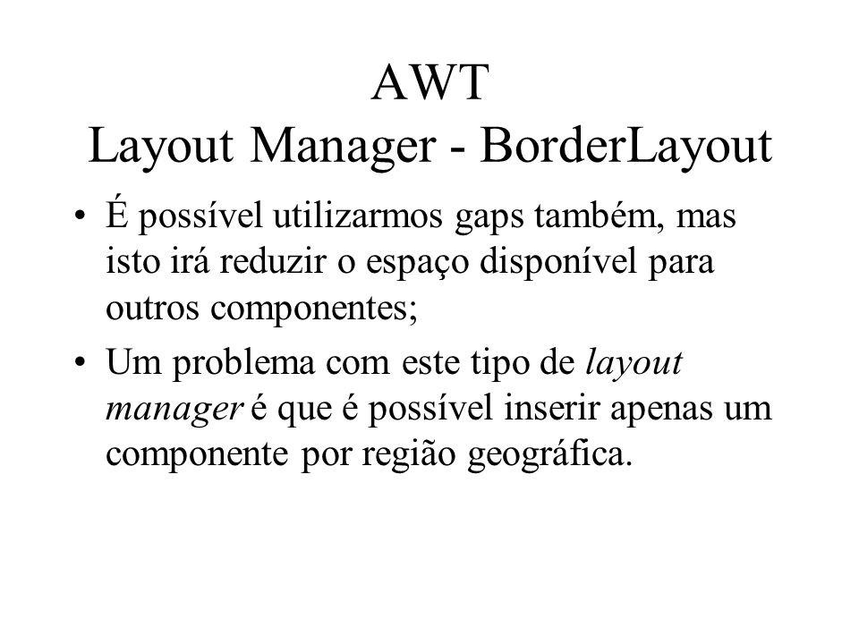 AWT Layout Manager - BorderLayout