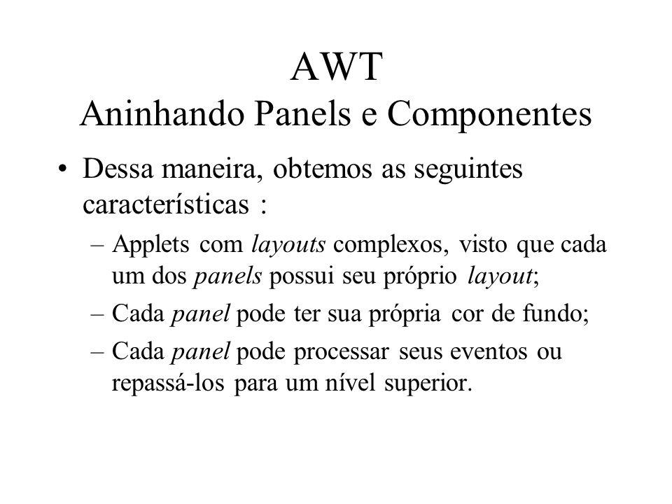 AWT Aninhando Panels e Componentes