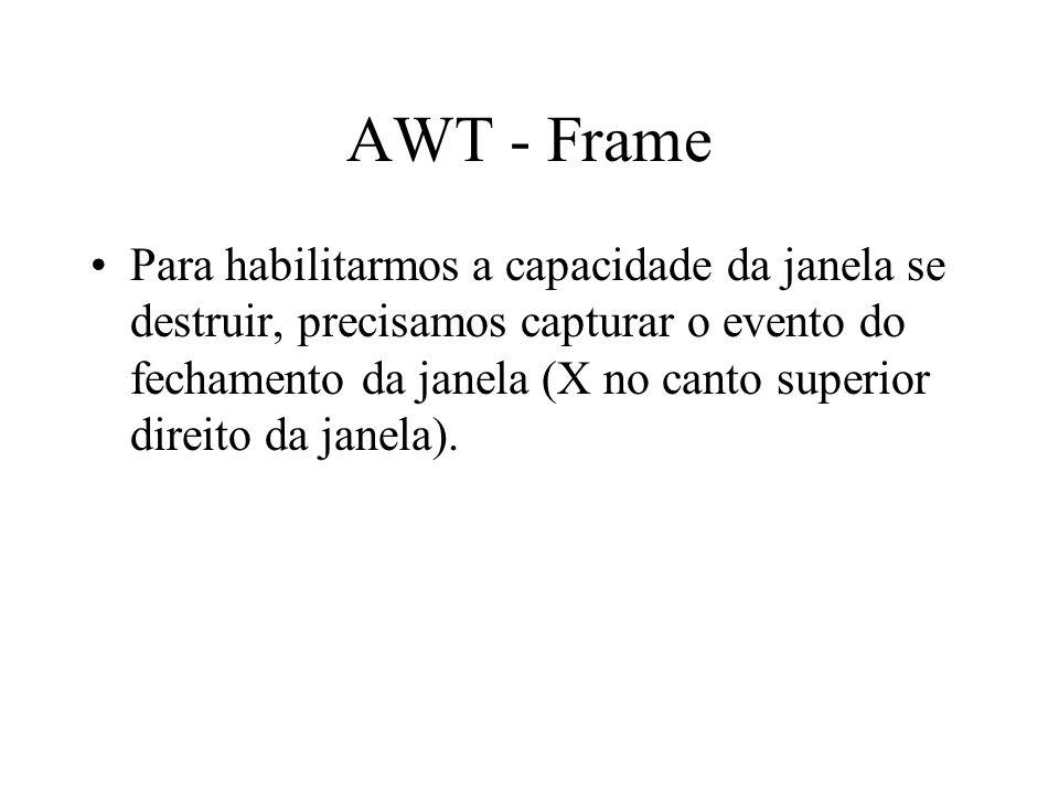 AWT - Frame