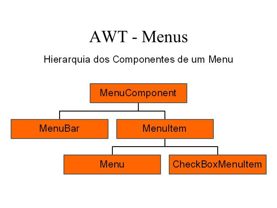AWT - Menus