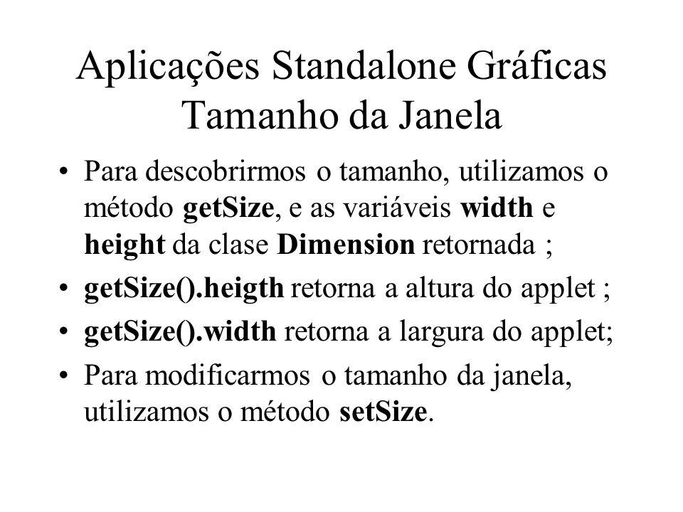 Aplicações Standalone Gráficas Tamanho da Janela
