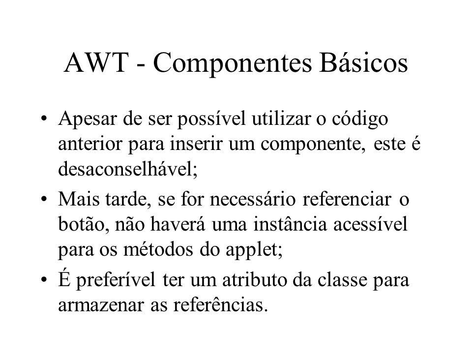 AWT - Componentes Básicos