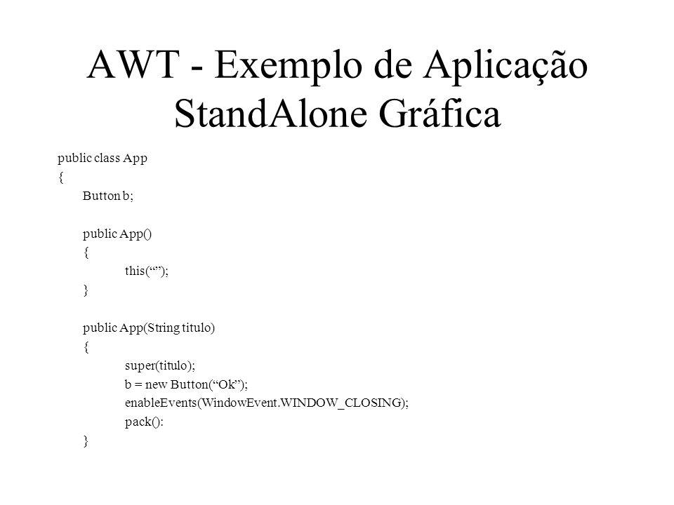 AWT - Exemplo de Aplicação StandAlone Gráfica