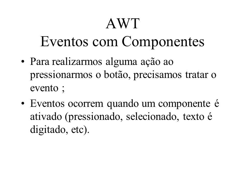 AWT Eventos com Componentes