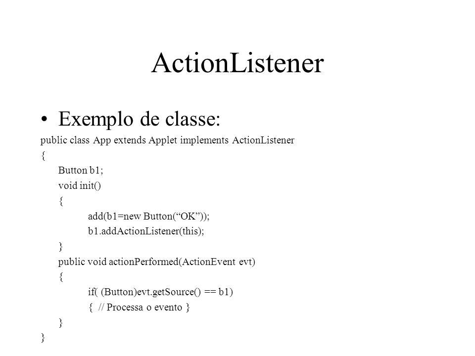 ActionListener Exemplo de classe: