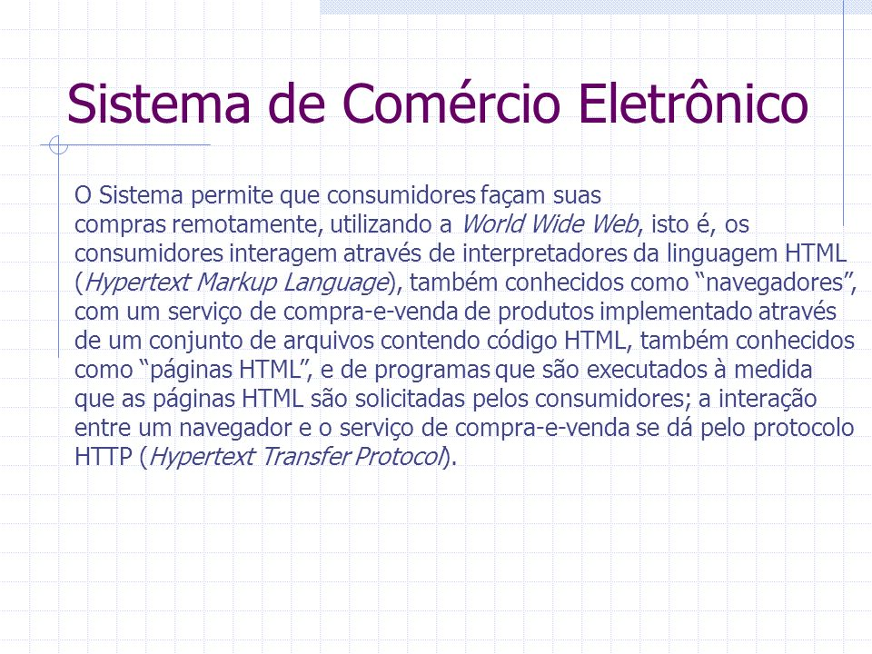 Sistema de Comércio Eletrônico