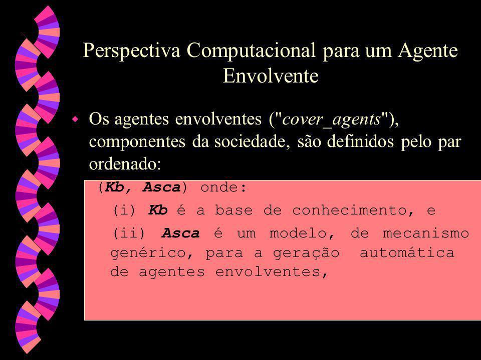 Perspectiva Computacional para um Agente Envolvente