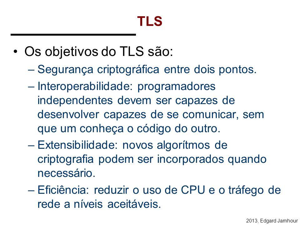 Os objetivos do TLS são: