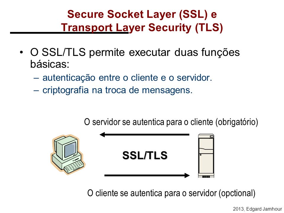 Secure Socket Layer (SSL) e Transport Layer Security (TLS)