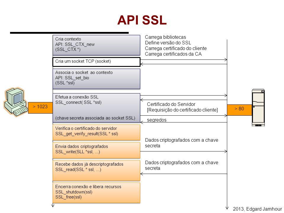 API SSL Carrega bibliotecas Define versão do SSL