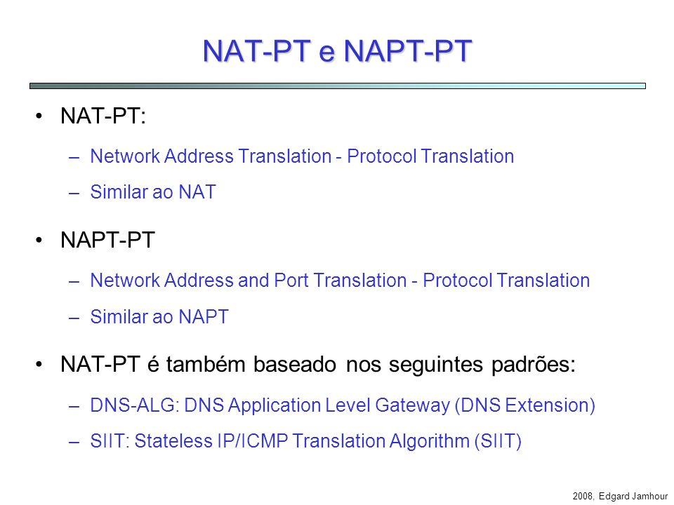 NAT-PT e NAPT-PT NAT-PT: NAPT-PT