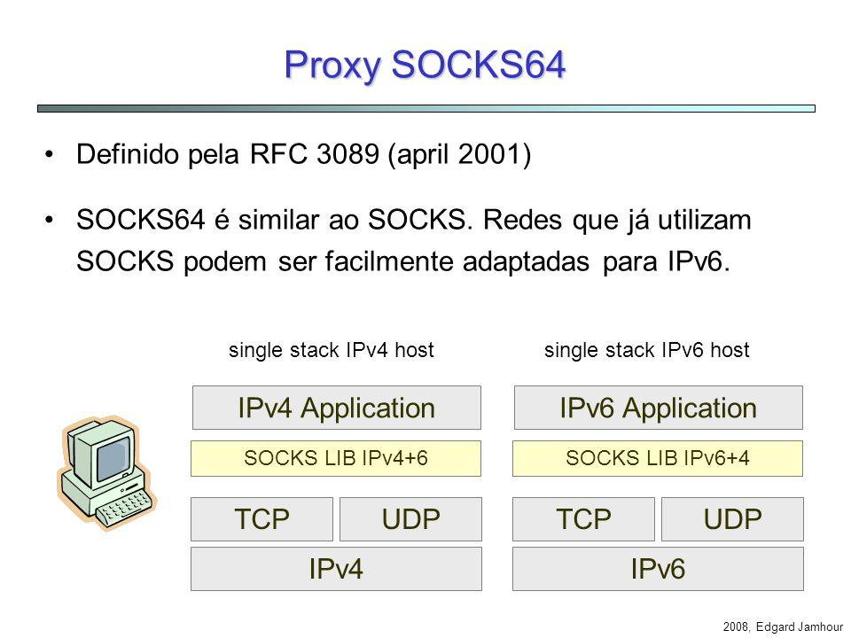 Proxy SOCKS64 Definido pela RFC 3089 (april 2001)