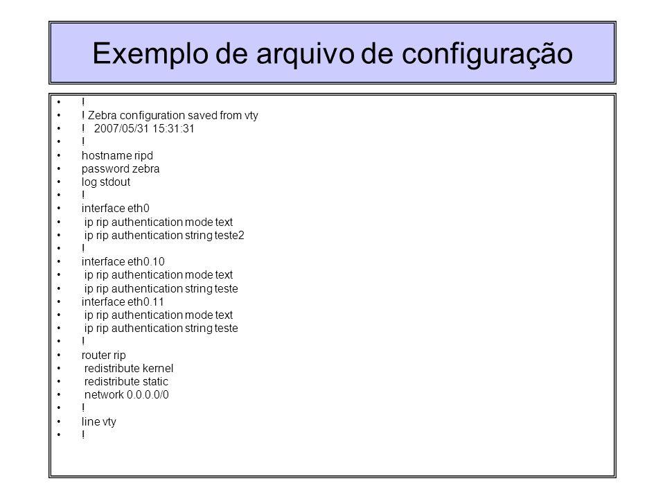 Exemplo de arquivo de configuração
