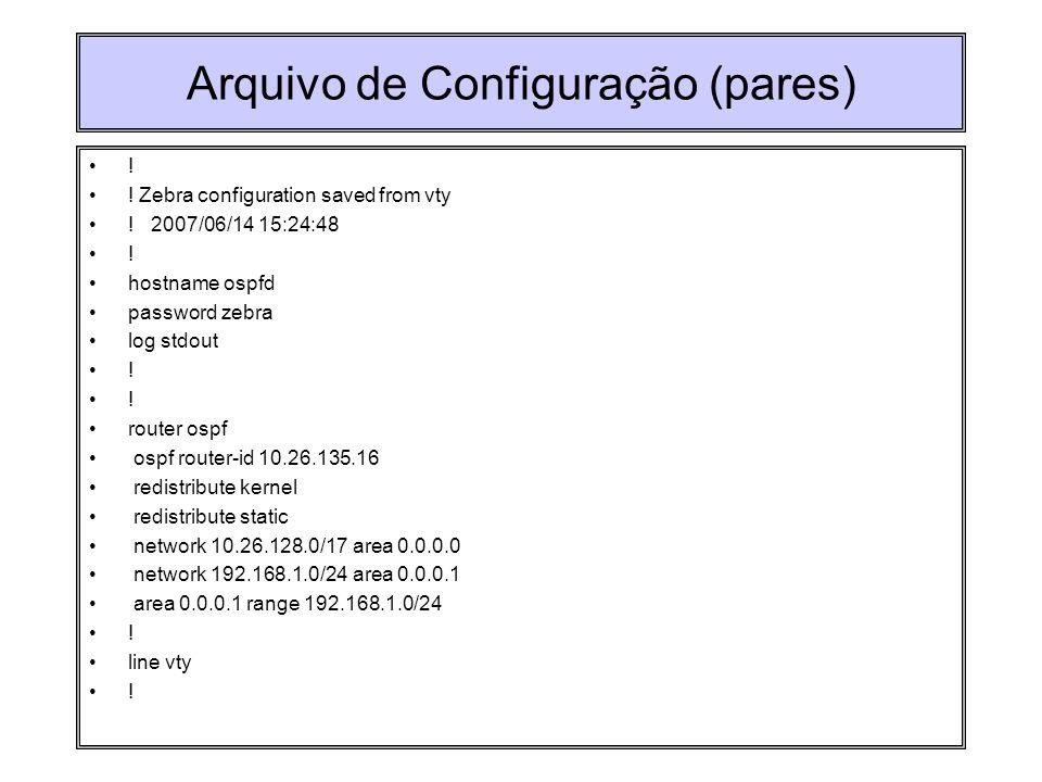 Arquivo de Configuração (pares)