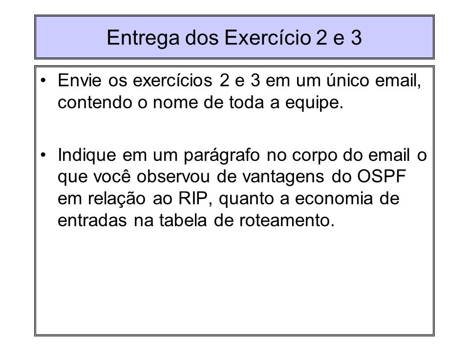 Entrega dos Exercício 2 e 3
