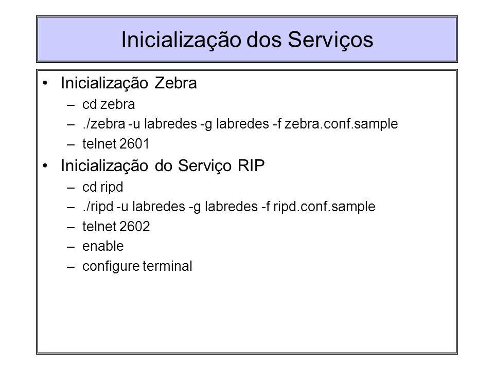Inicialização dos Serviços