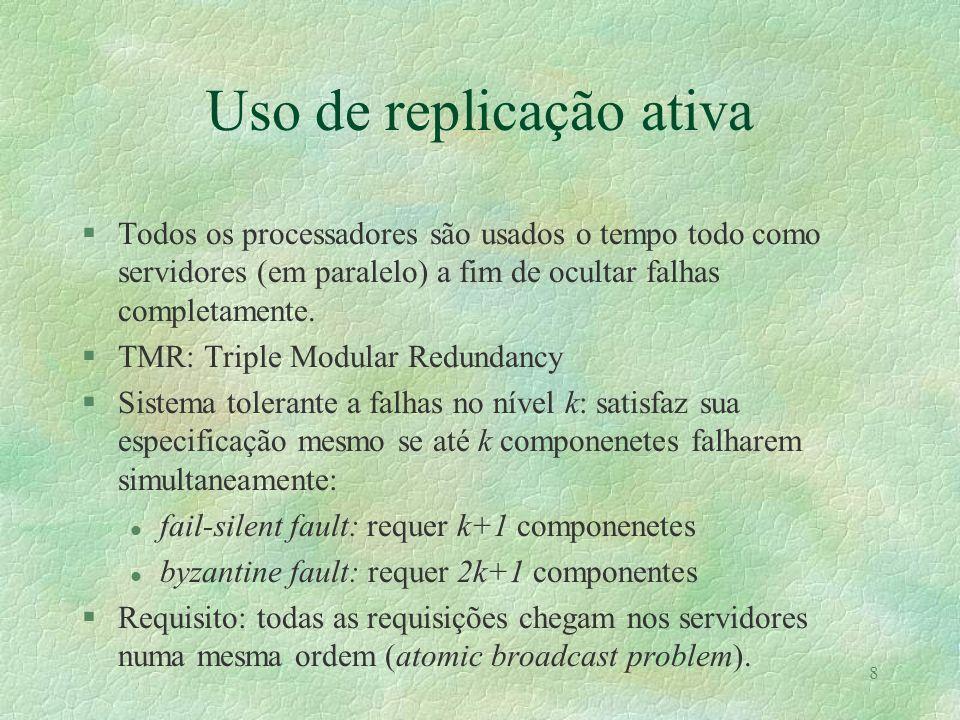 Uso de replicação ativa
