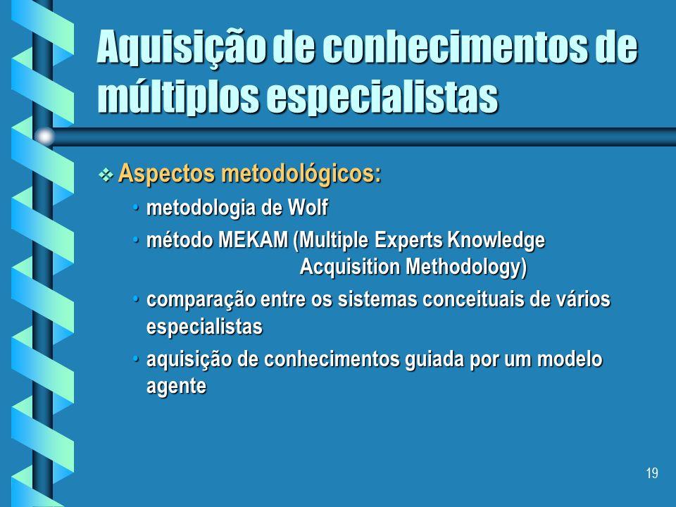 Aquisição de conhecimentos de múltiplos especialistas